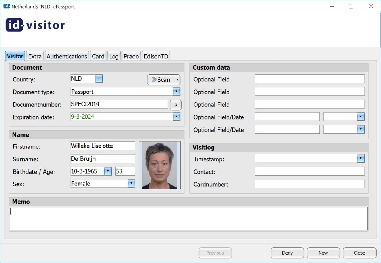 Id-visitor screenshot
